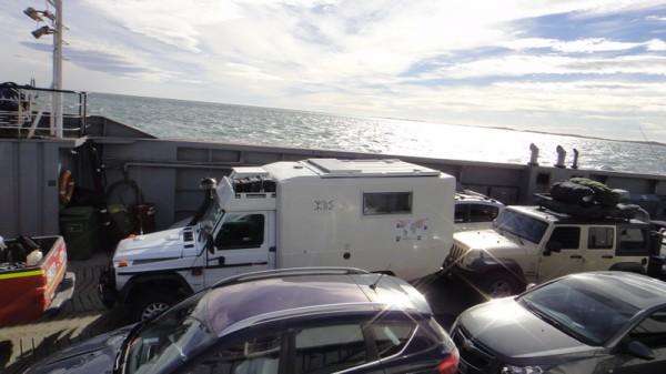 Sur le ferry du détroit Magellan