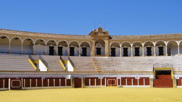 Sur la route du retour, les arènes de Antequera