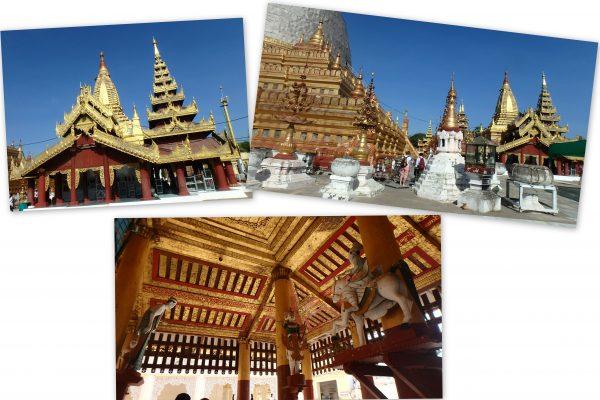 Temple typique avec ses diverses salles et stupas
