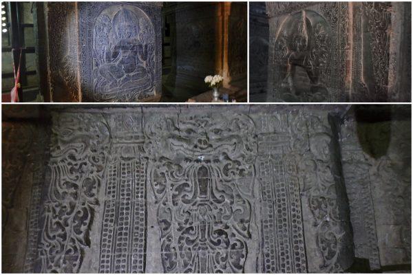 Quelques rares sculptures sur pierre