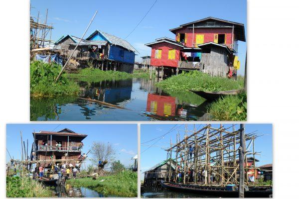 Tout le village participe à la construction ou à la réparation d'une maison