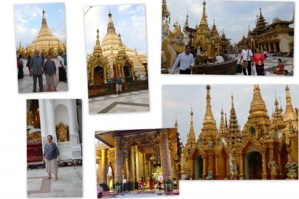 En faisant le tour du Stupa.