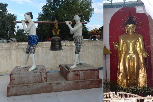 A l'entrée du temple, on tape 3 fois sur la cloche