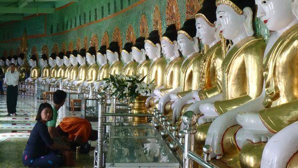 45 bouddhas dans ce monastère