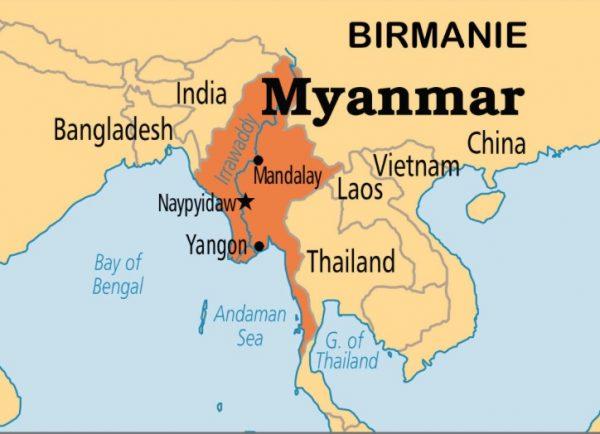 carte birmanie B