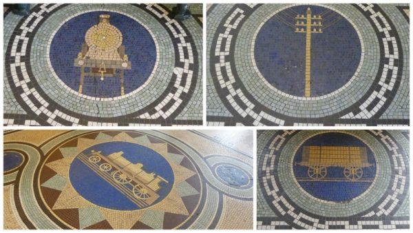 18-motifs céramique du sol de la gare