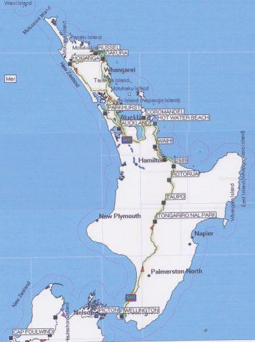 trajet île du nord